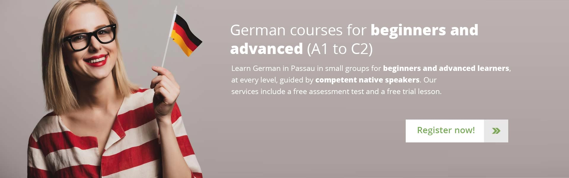 Learn German in Passau – German courses for beginners and advanced (A1 to C2)
