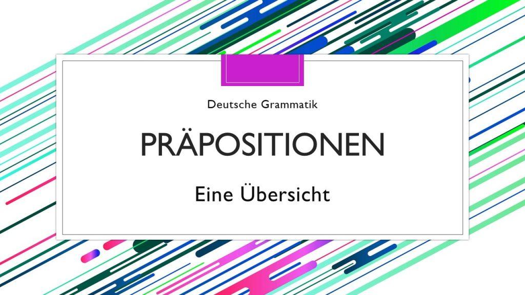 Titelbild - Deutsche Präpositionen